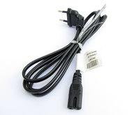 Kabel síťový 230V 1,5m k TV/audio/video přístrojům
