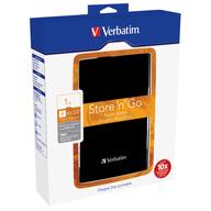 Verbatim Store'n'Go USB 3.0 1TB přenosný pevný disk černý