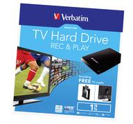 Verbatim Store 'n' Go pevný disk pro TV, USB 3.0 1TB černý
