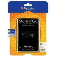 Verbatim Store'n'Go USB 3.0 500GB přenosný pevný disk černý
