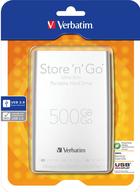 Verbatim Store'n'Go USB 3.0 500GB přenosný pevný disk stříbrný
